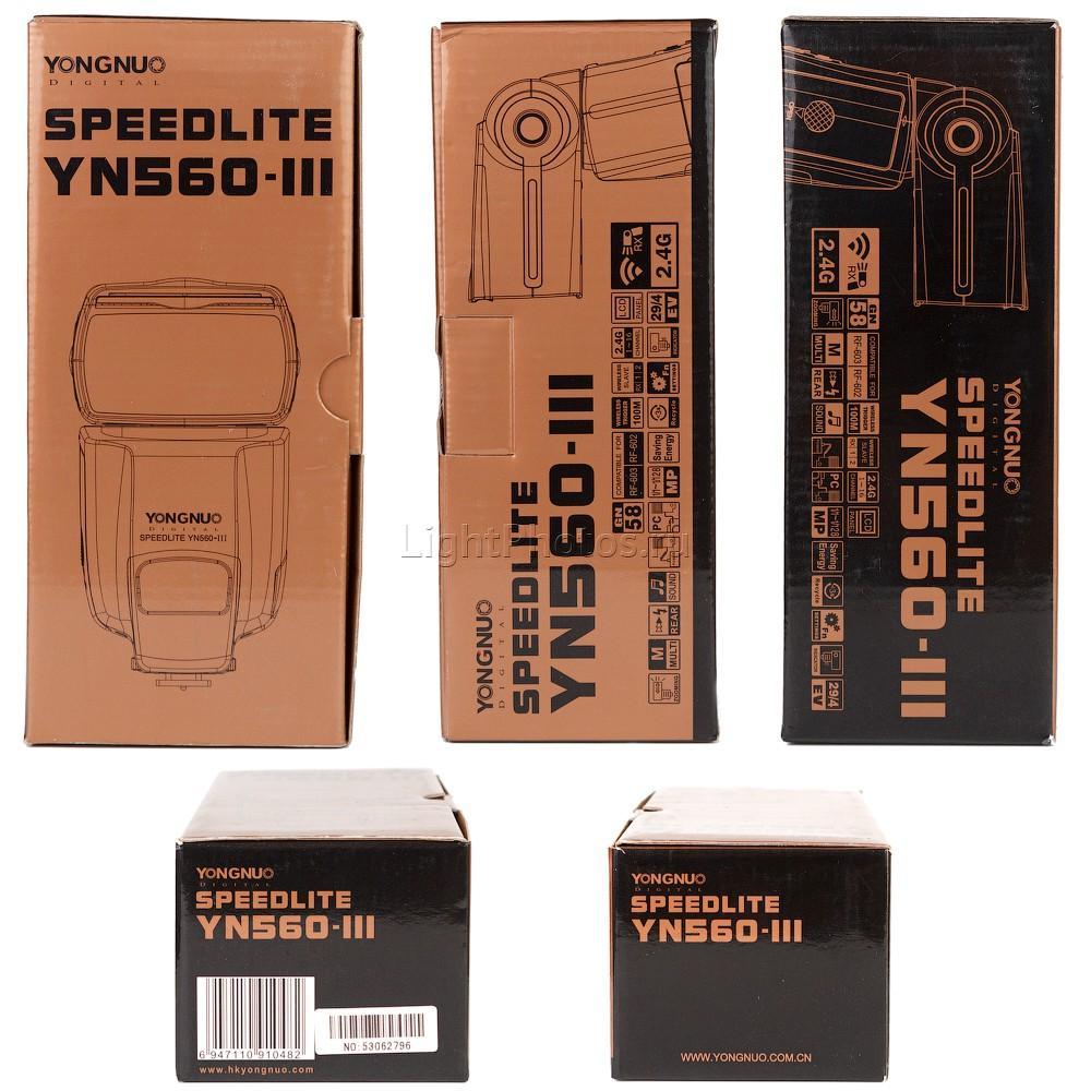 Фотовспышка YongNuo YN-560 III Speedlite - купить в интернет-магазине LightPhotos.ru, цена, инструкция, отзывы, фото.