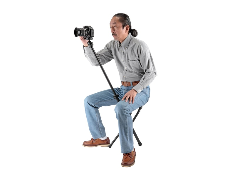 Chairpod Velbon: штатив для камеры с функцией стула