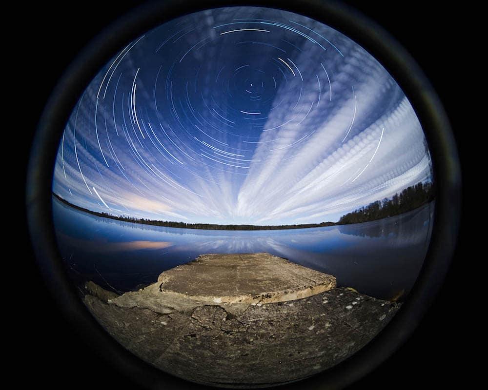 циркулярный фишай фото ведет проходной образ